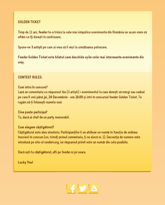 Golden Ticket W80 XMAS rules