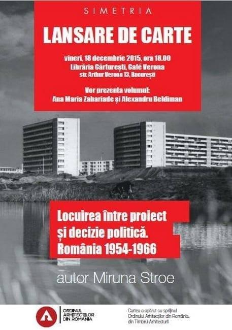 Lansare de carte: Locuirea între proiect şi decizie politică, 18 decembrie, Cafe Verona