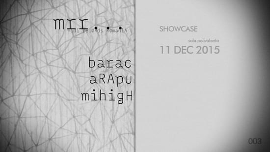 Midi Records Showcase w/ Barac / Arapu / Mihigh