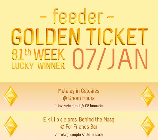 Golden Ticket W81 - events