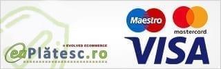 Online cu card bancar prin EuPlatesc (Visa/Maestro/Mastercard)