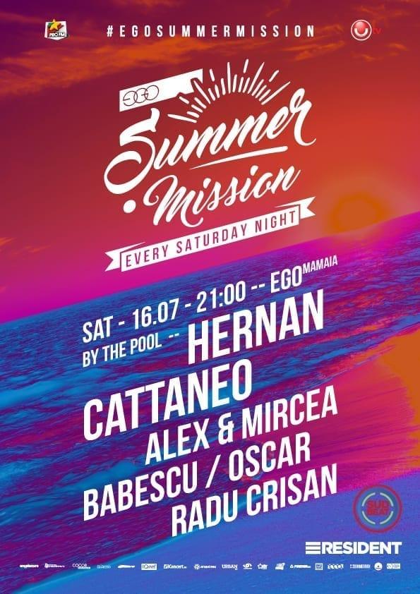 Ego Summer Mission: Hernan Cattaneo, Alex& Mircea Babescu, Oscar, Radu Crișan @ Piscina Ego