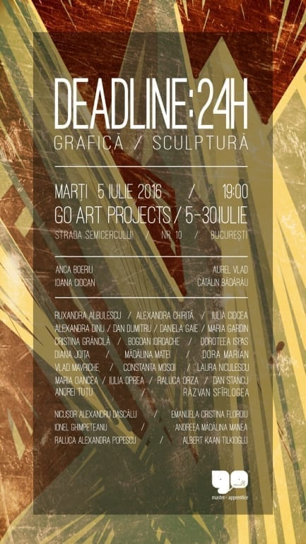 GO14 DEADLINE 24H @ Go Art Projects 05.07.2016 7 pm feeder