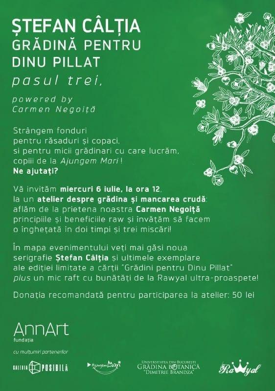 Gradina si mancare raw: Caltia, Pillat - Pasul trei