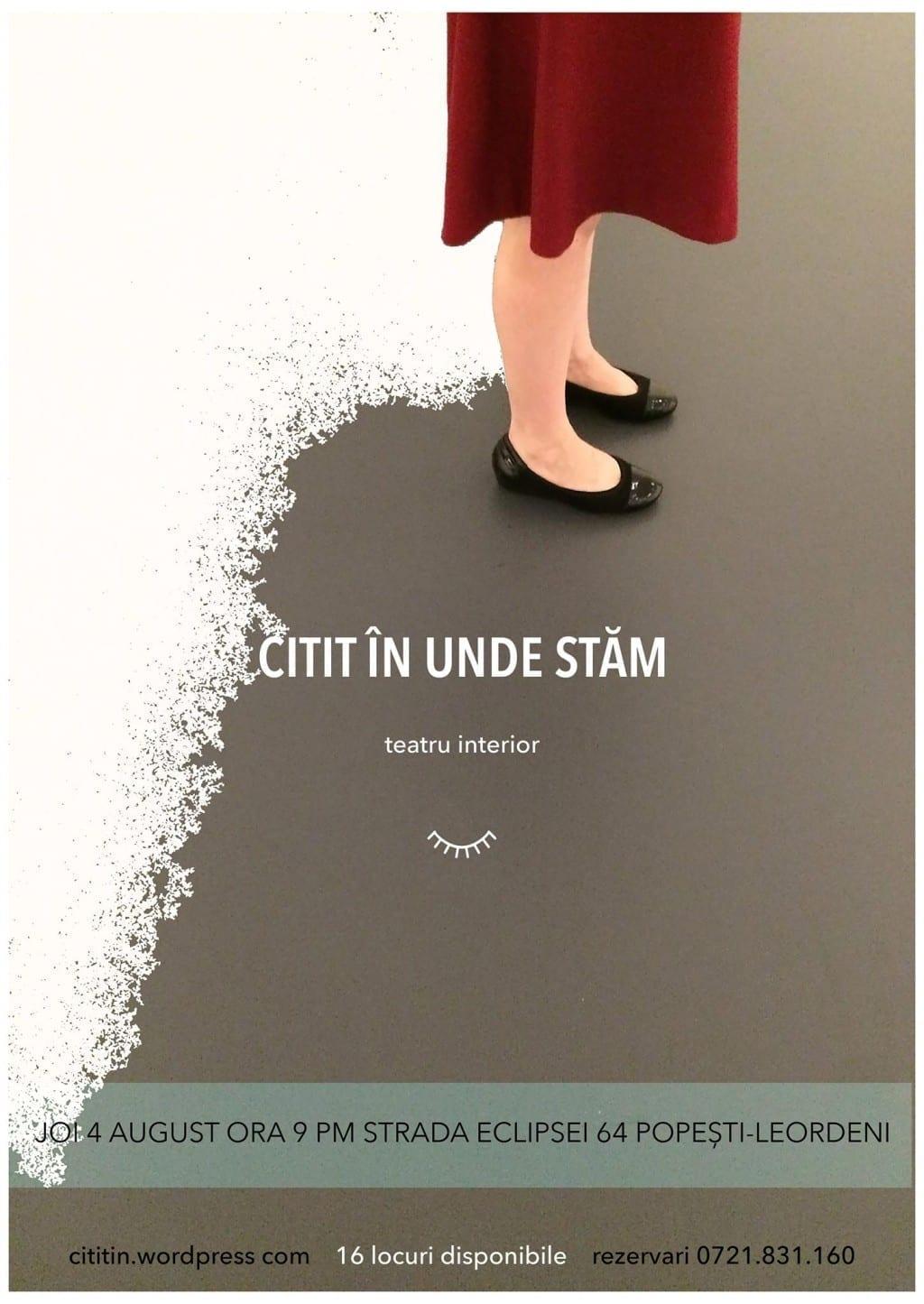 Citit În Unde Stăm (teatru interior) @ Str. Eclipsei, Popești-Leordeni