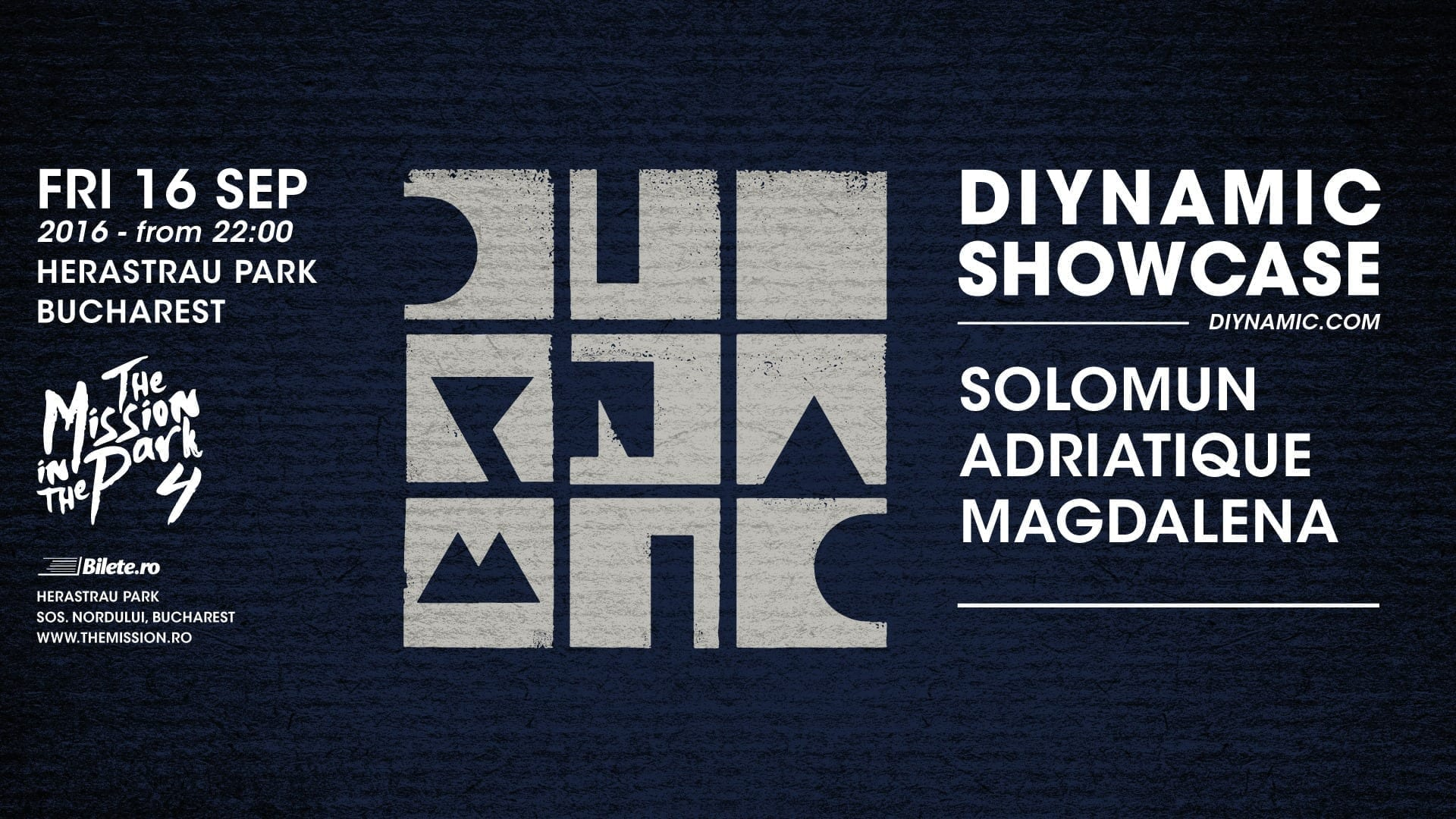 Diynamic Showcase pres. The Mission in the Park w/ Solomun, Adriatique, Magdalena @ Herăstrău Park