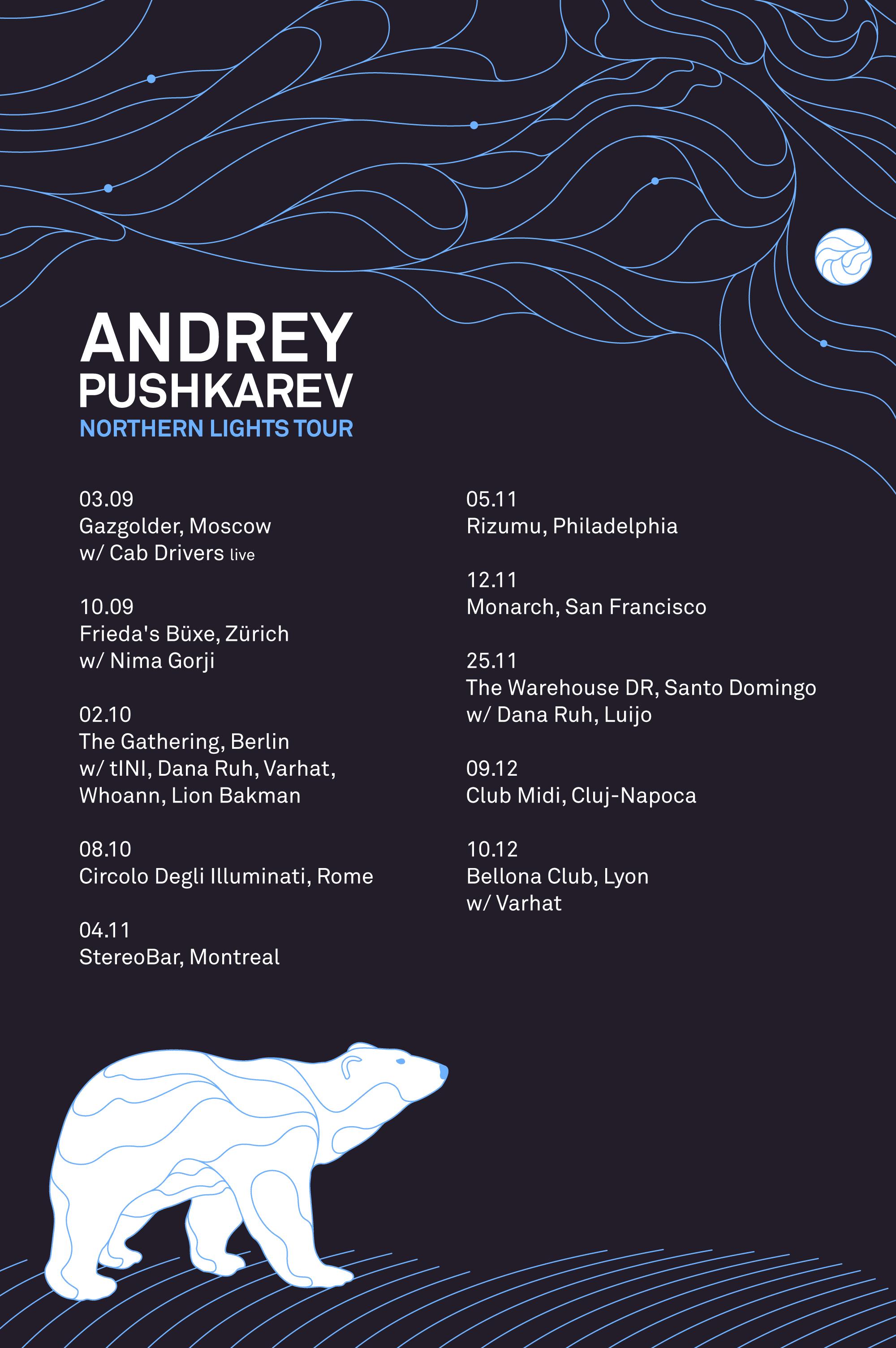 Andrey Pushkarev announces long awaited Debut World Tour