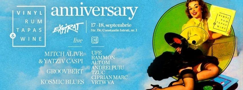 Anniversary! 2 Years with Vinyl, Rum, Tapas & Wine @ Expirat Halele Carol