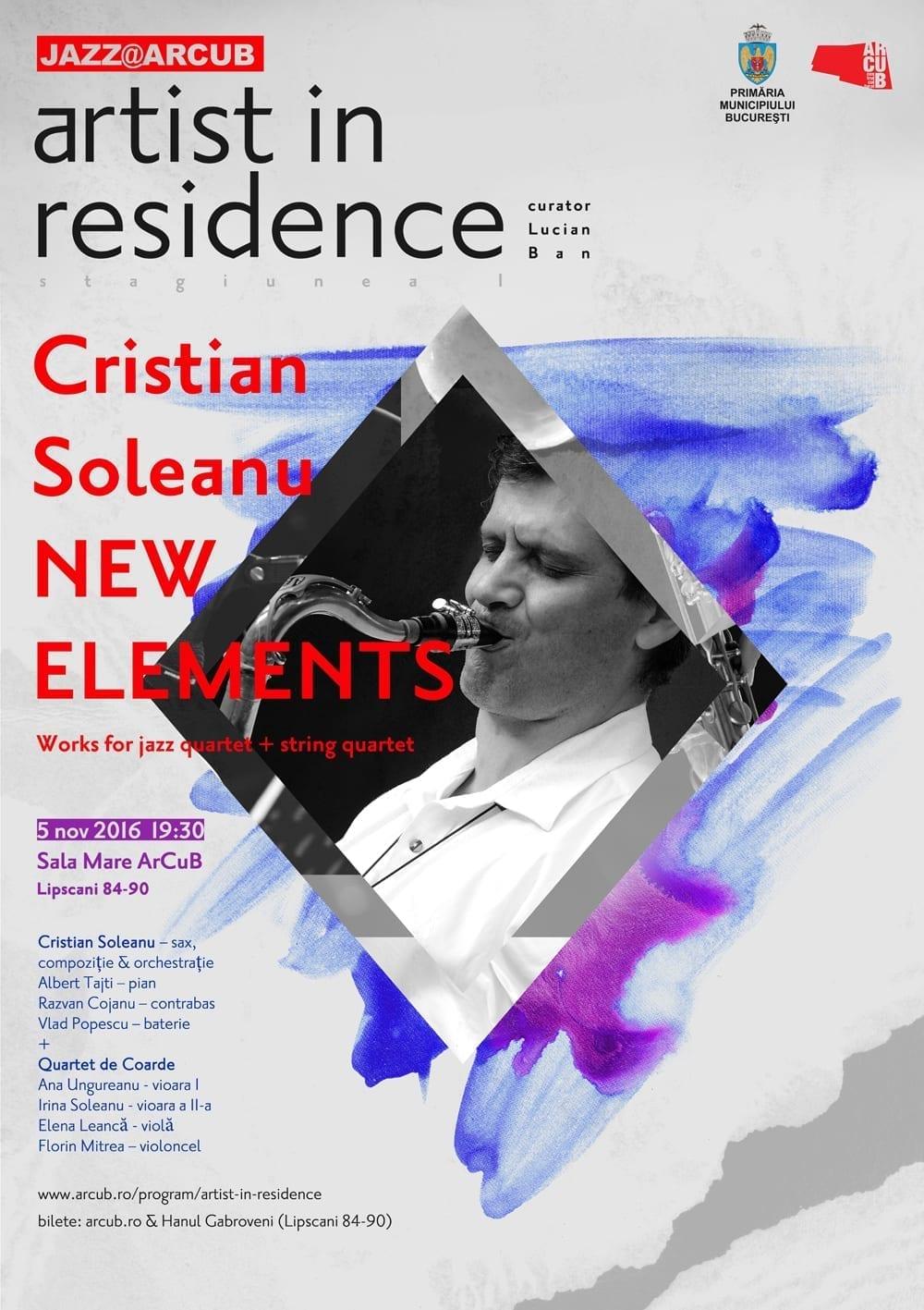Artist in Residence - Cristian Soleanu & Double Quartet @ ARCUB