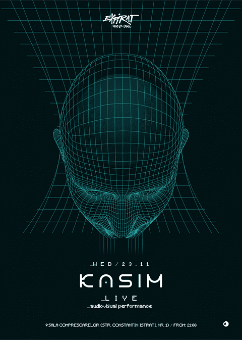KASIM - audiovisual performance @ Expirat Halele Carol
