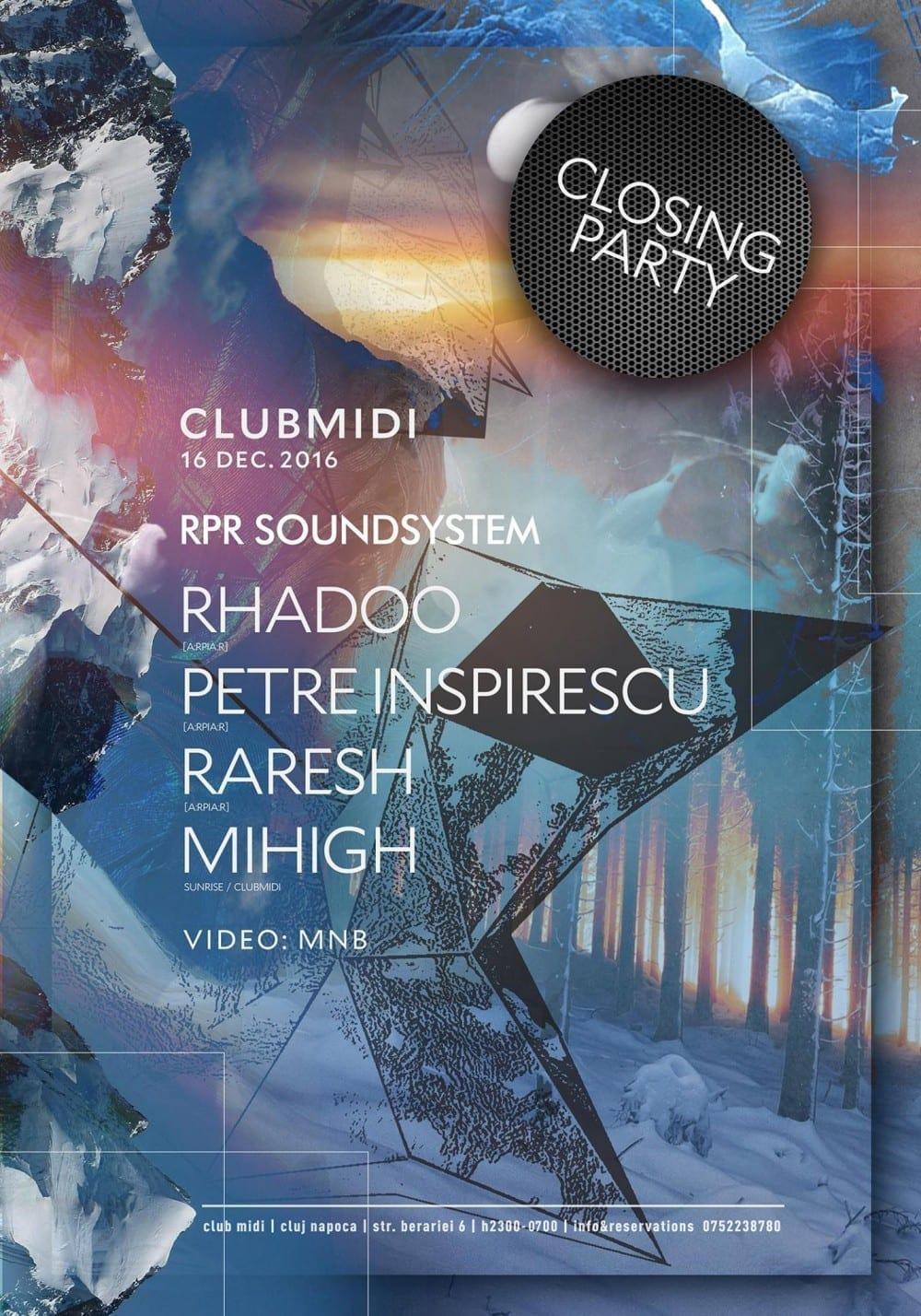 Closing Party: Rhadoo, Petre Inspirescu, Raresh, Mihigh @ Club Midi