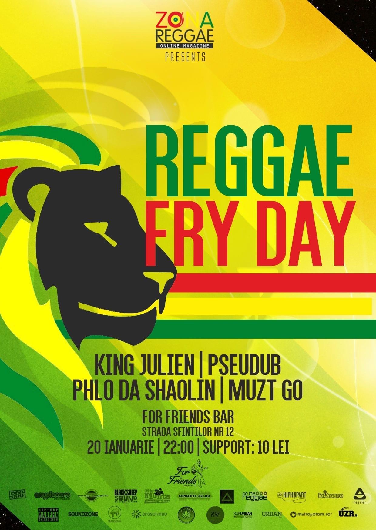 Afis Reggae Fry-day 20 ianuarie