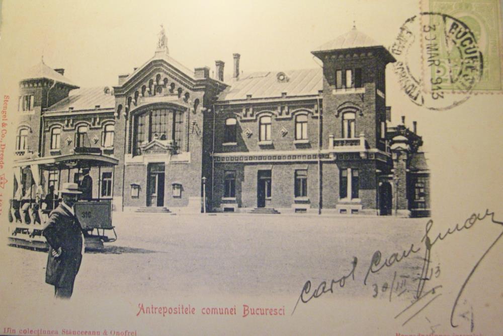 The Ark 1913 București,Bursa Marfurilor,piata de flori George Cosbuc