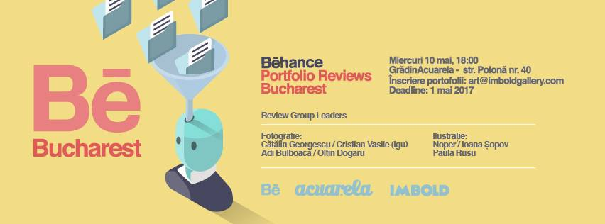 Be Bucharest: Behance Portofolio Reviews Bucharest @ Cuimbold