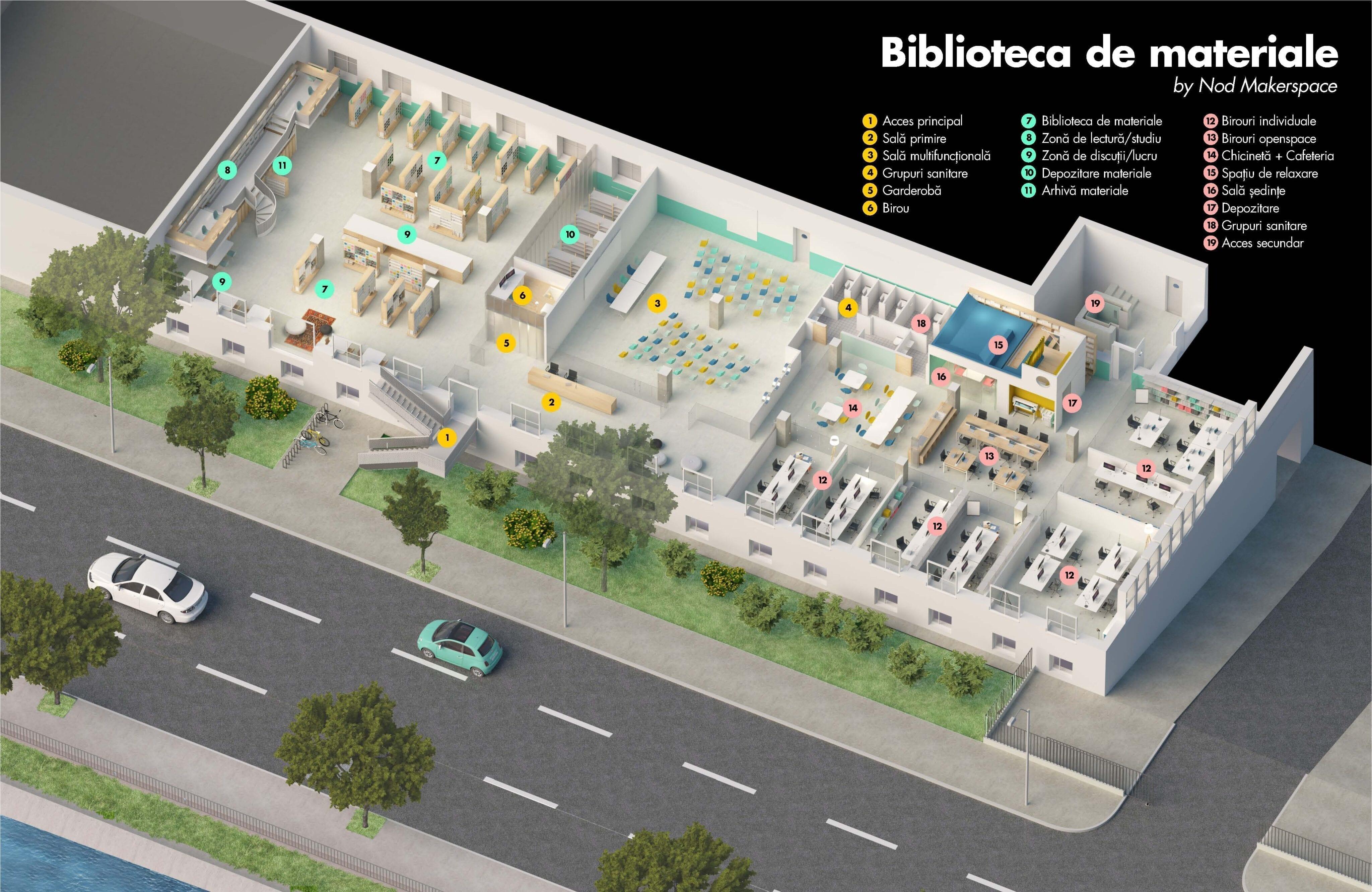 MATER Library - BIBLIOTECA DE MATERIALE NOD Maker space