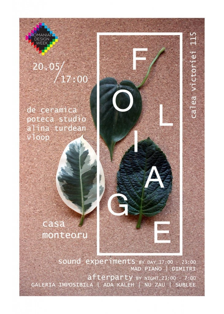 FOLIAGE @ Monteoru Romanian Design Week collateral event