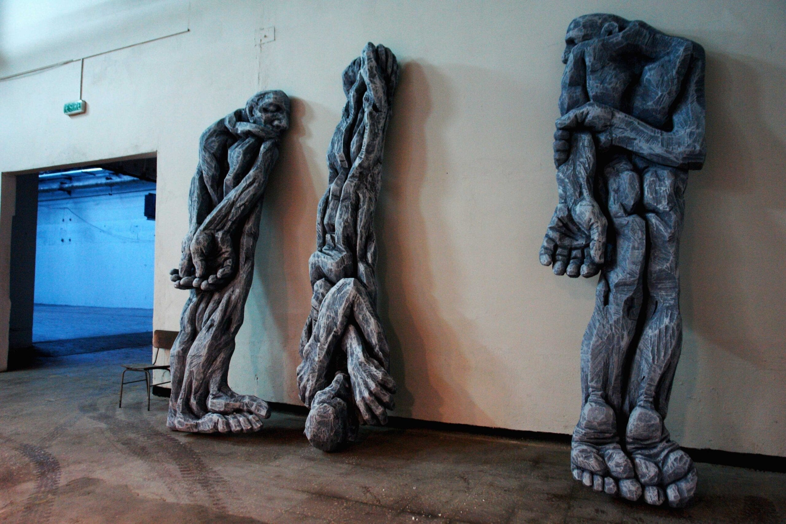 "Cătălin Bădărău, ""Depersonalization"", 2011, Sculpture, carved polystyrene,350 x100x50cm (HxWxD) (4)"