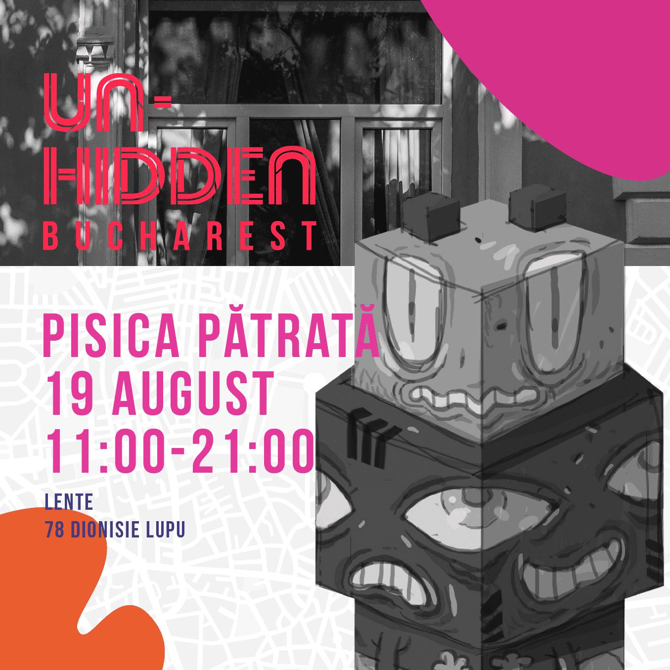 Un-hidden Bucharest - Pisica Pătrată totem @ Lente