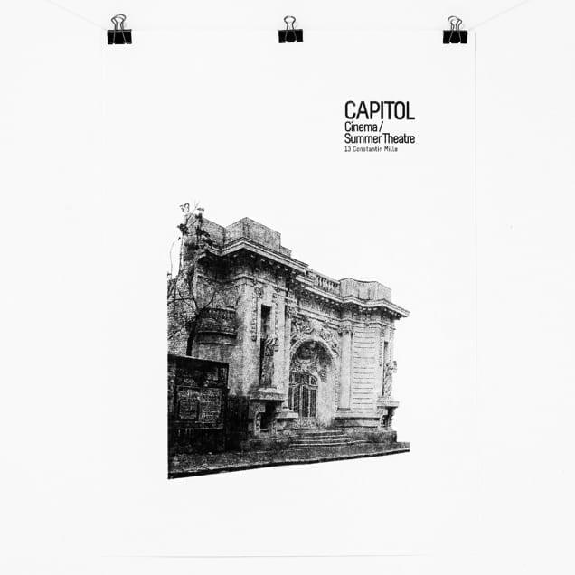 CAPITOL screen printed poster