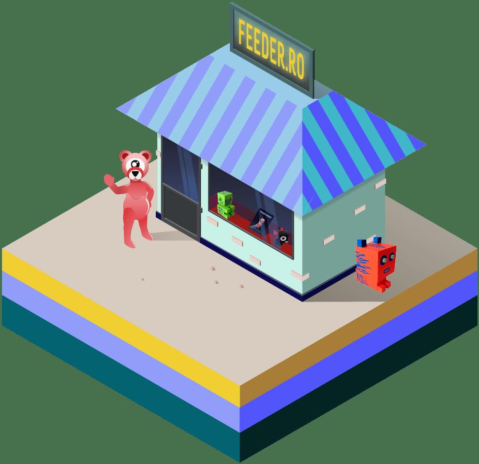 feeder.ro shop logo welcome