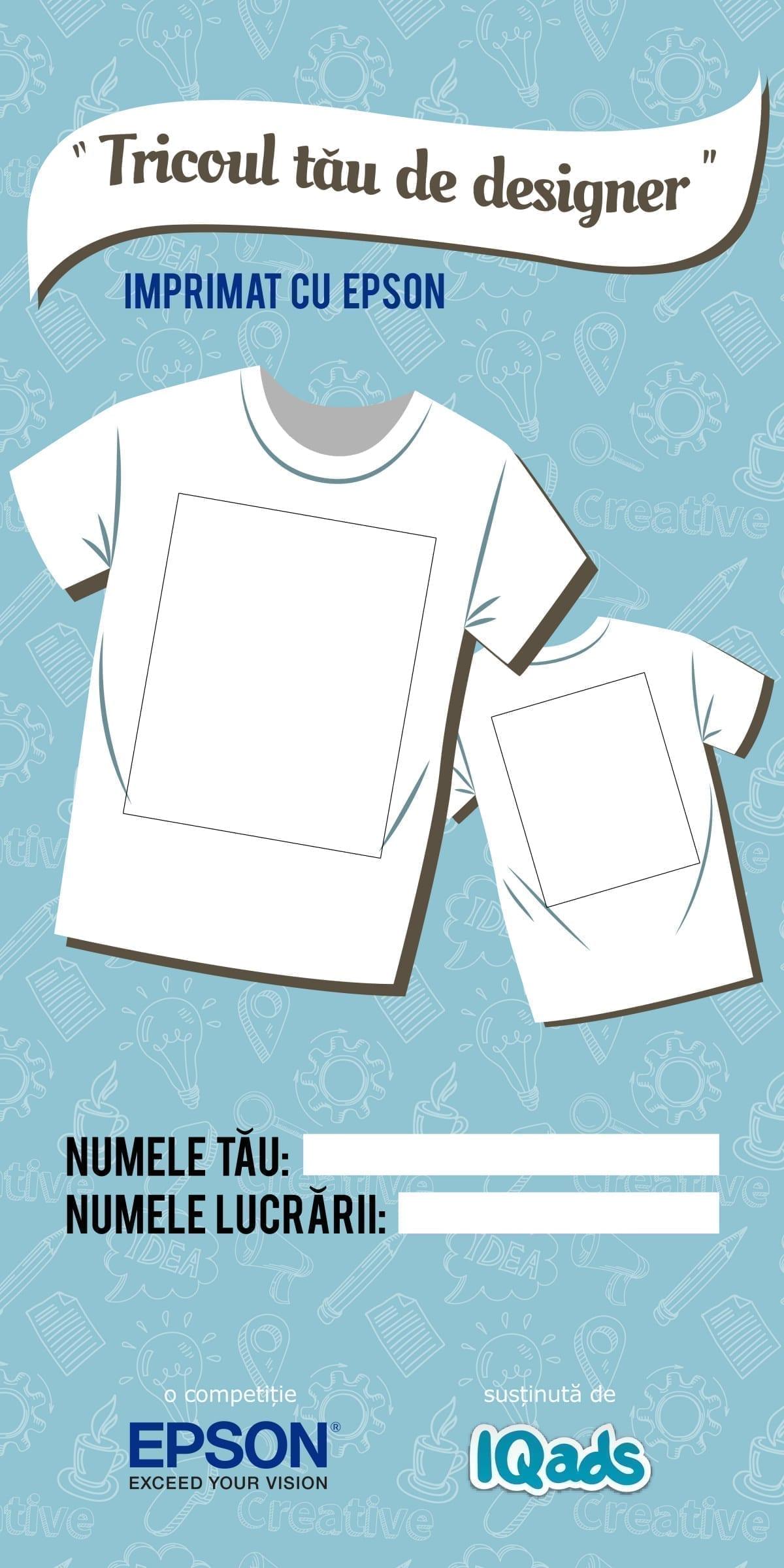 tricou de designer epson iqads 2