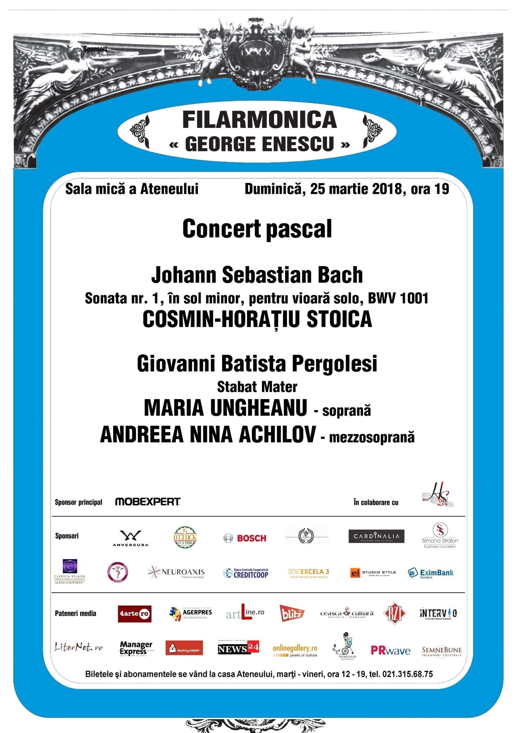 """Filarmonica ,,George Enescu"""" în colaborare cu Asociația Home of Strings"""