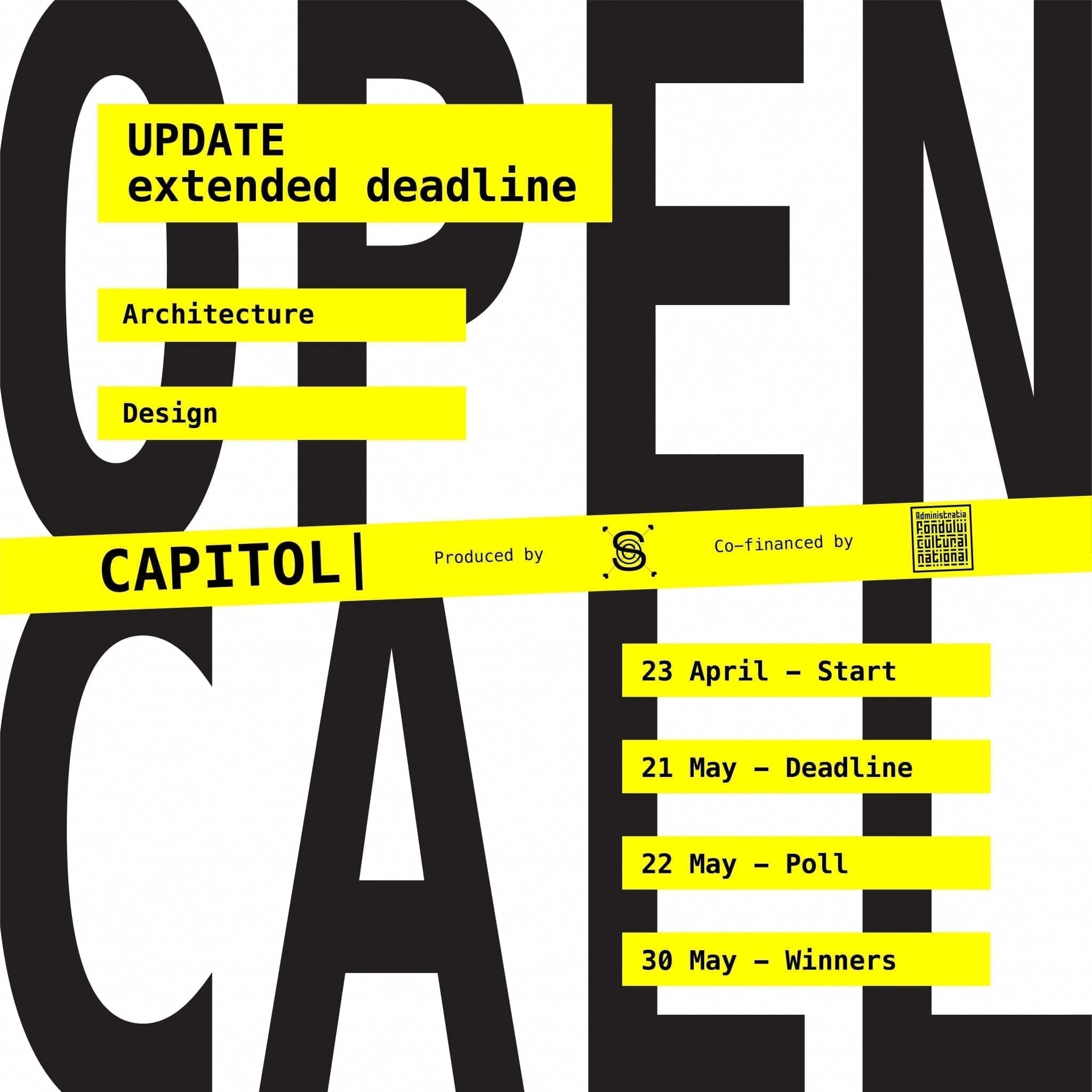 OPEN CALL ARCHITECTURE & DESIGN - Shape the future of CAPITOL [UPDATE: EXTENDED DEADLINE]