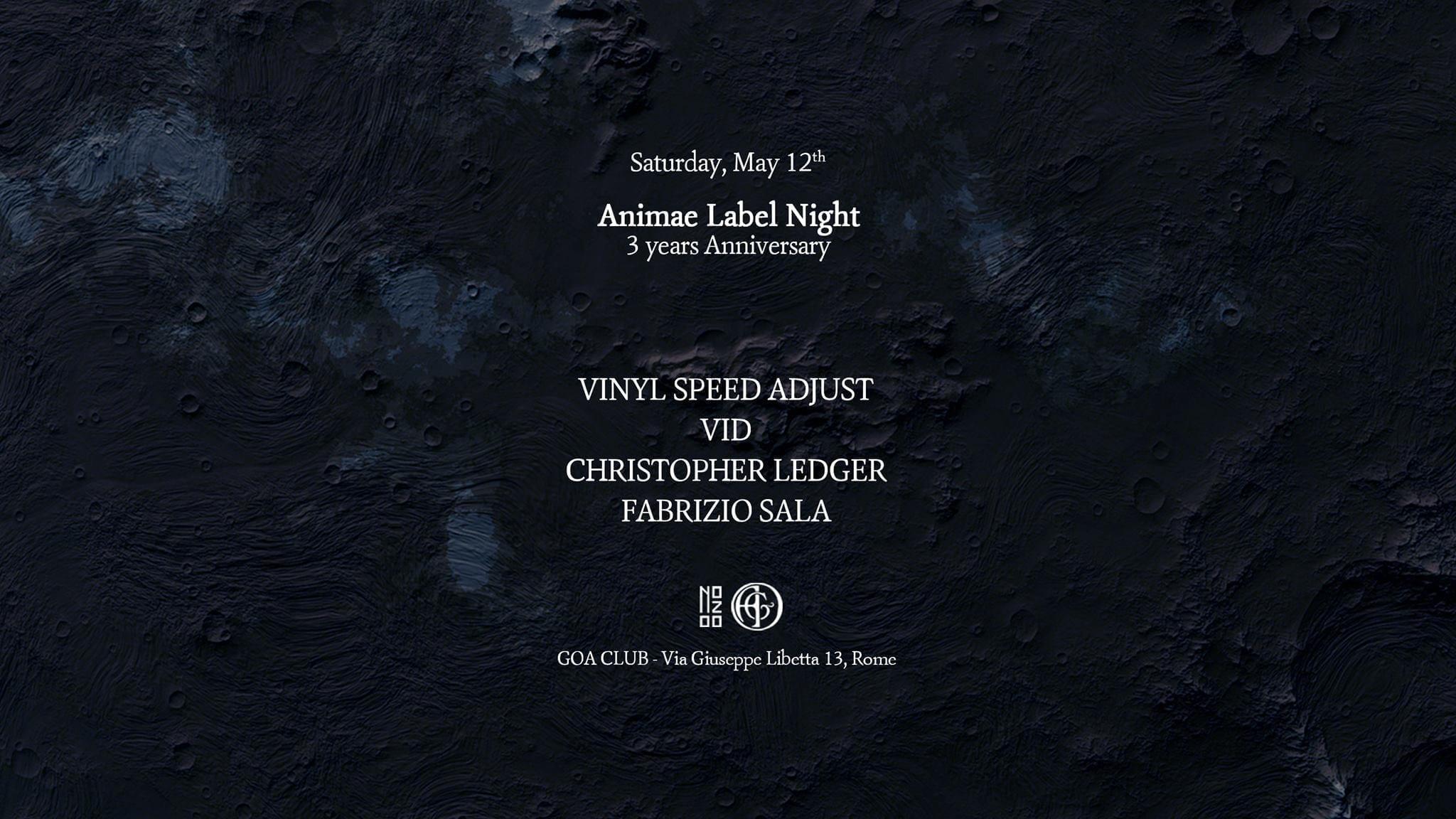Animae Label Night x Goa Club