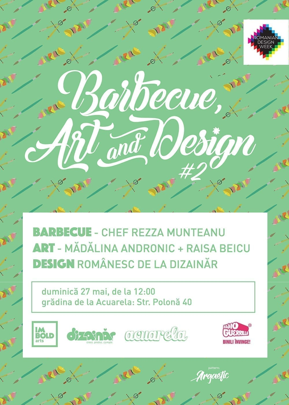 Barbecue, Art & Design 2 la Acuarela de Romanian Design Week