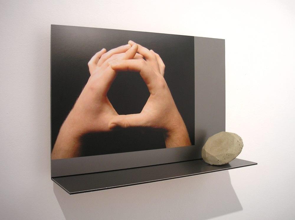 Radu Cioca - Imitating Perfect Shapes – photography, aluminium, compressed earth | 45x41x11cm | 2012.
