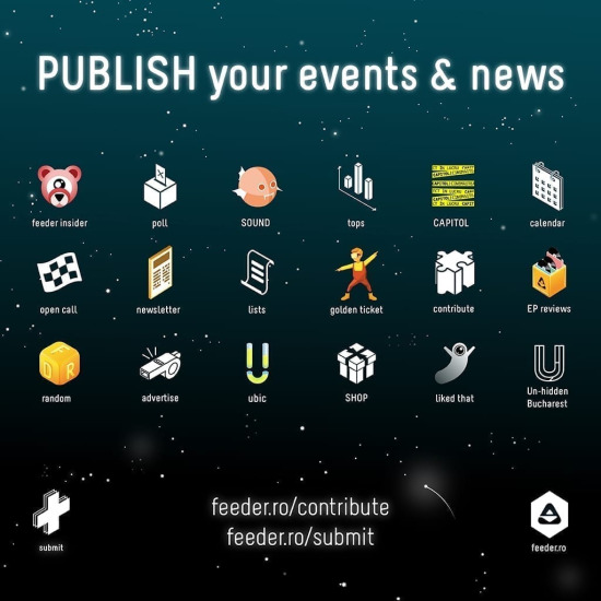 Publish your events, articles & news on feeder.ro!