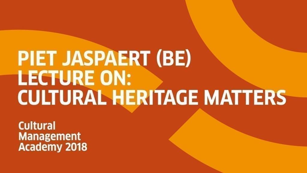 Piet Jaspaert Cultural Heritage Matters