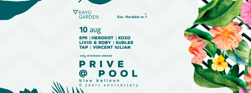 Prive@Pool #3 - ONLY 1000 - Blue Balloon 6 years anniversary
