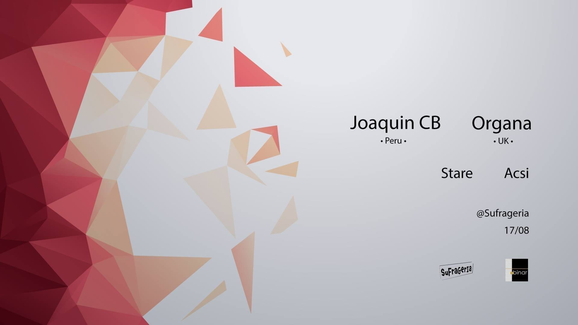 Binar.Concept pres. Joaquin CB and Organa