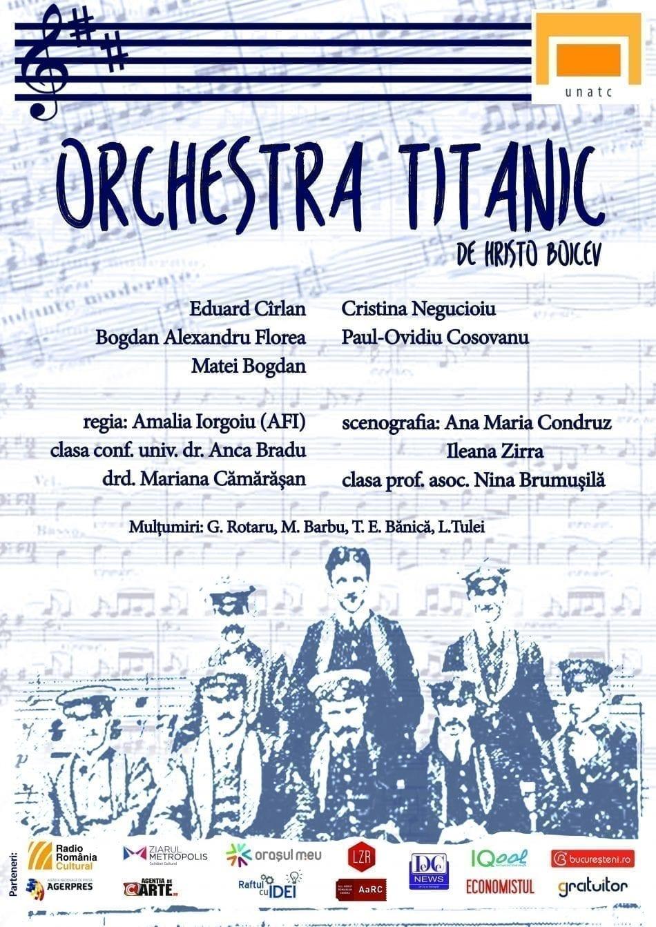 """Orchestra Titanic"", Micro-stagiunea StArtAct la unteatru"