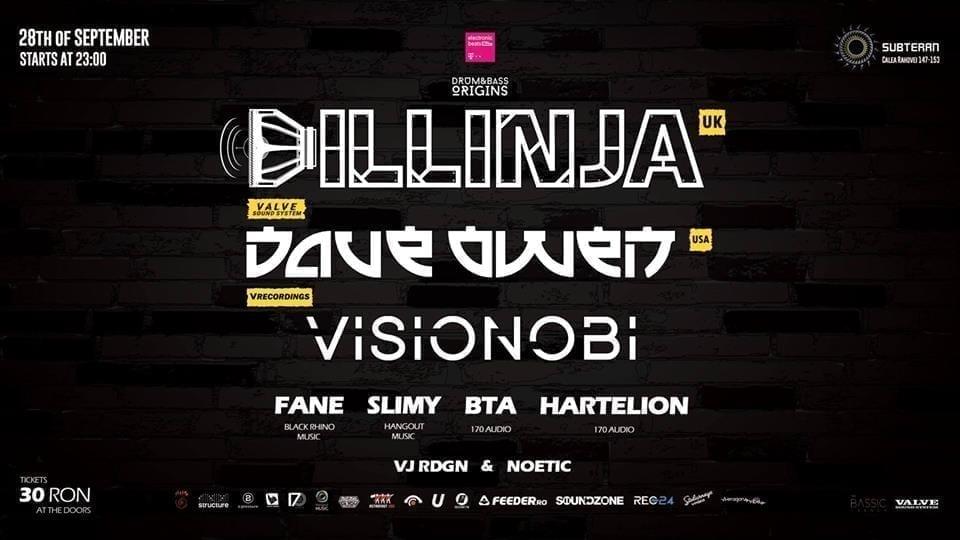 DILLINJA (UK) w/ VISIONOBI & DAVE OWEN (USA) / presented by Drum&Bass Origins