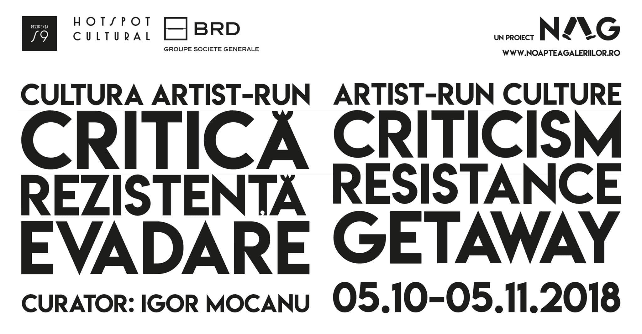 Cultura artist-run – critică, rezistență, evadare