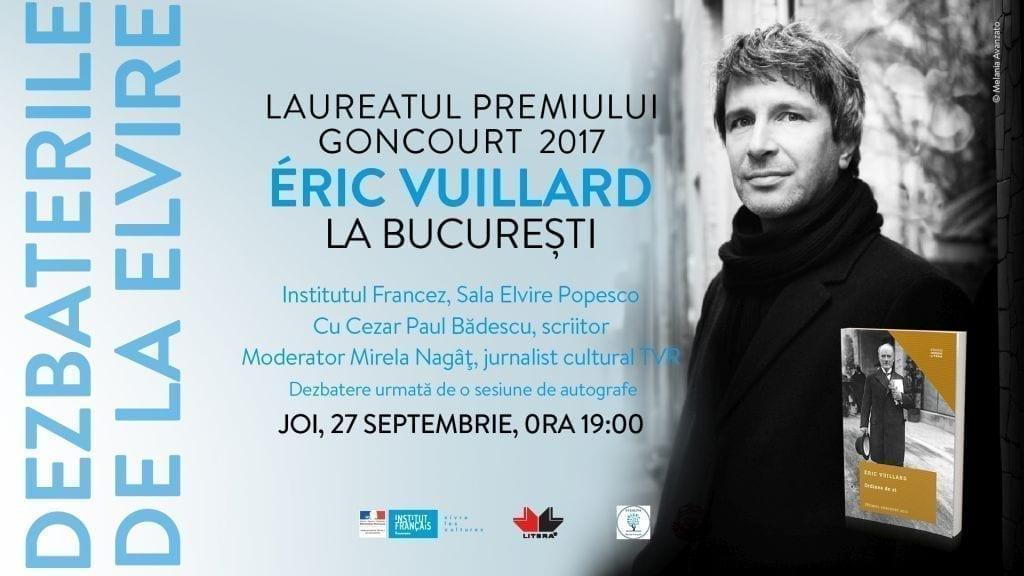 Éric Vuillard, laureatul Premiului Goncourt 2017, vine în România