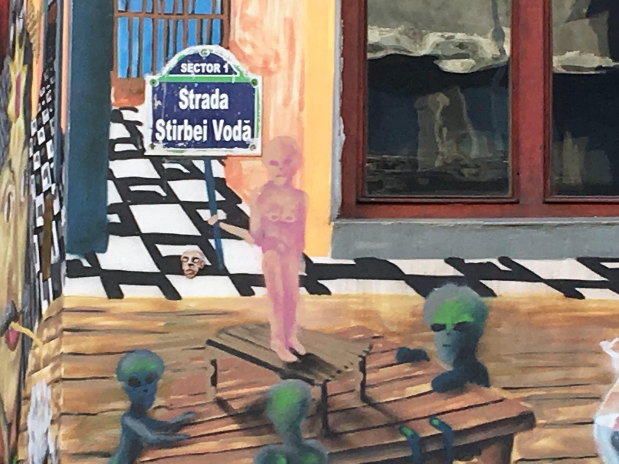 J.Ace street art Bucharest Știrbei Vodă CAPITOL 4