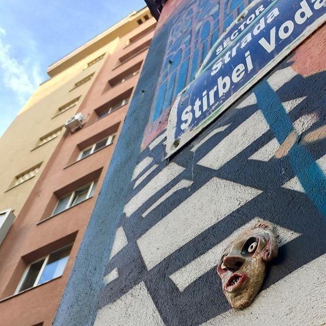J.Ace street art Bucharest Știrbei Vodă CAPITOL