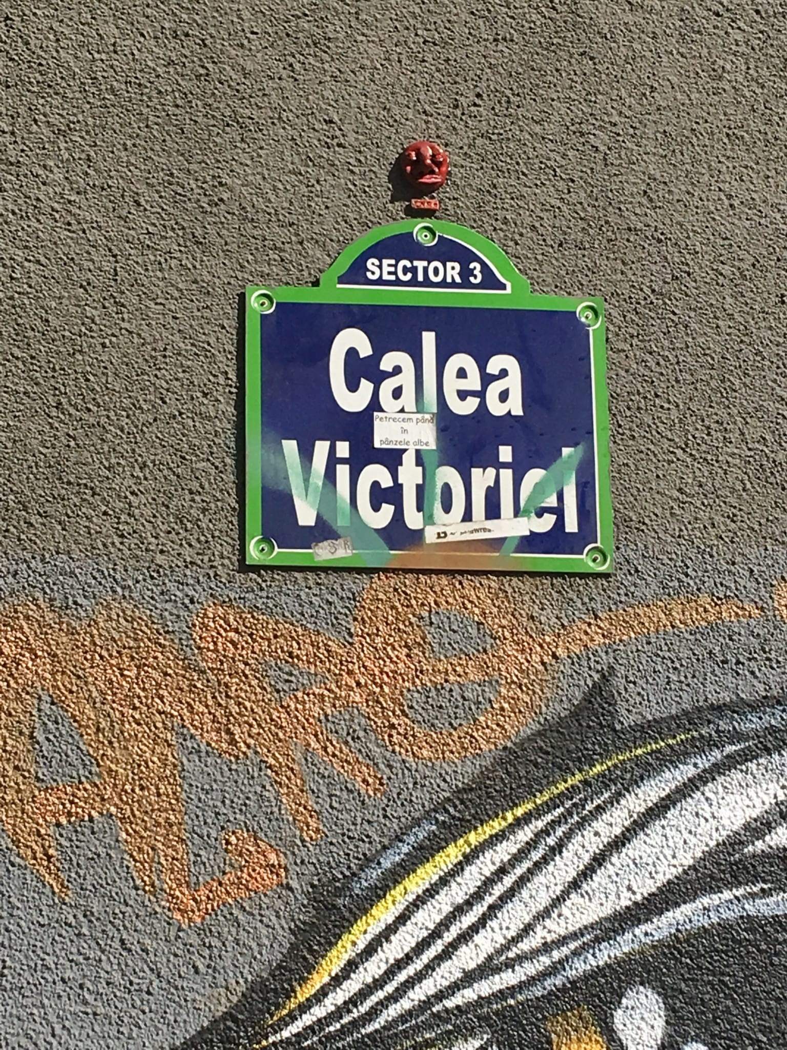 J.Ace street art Bucharest Calea Victoriei CAPITOL 2
