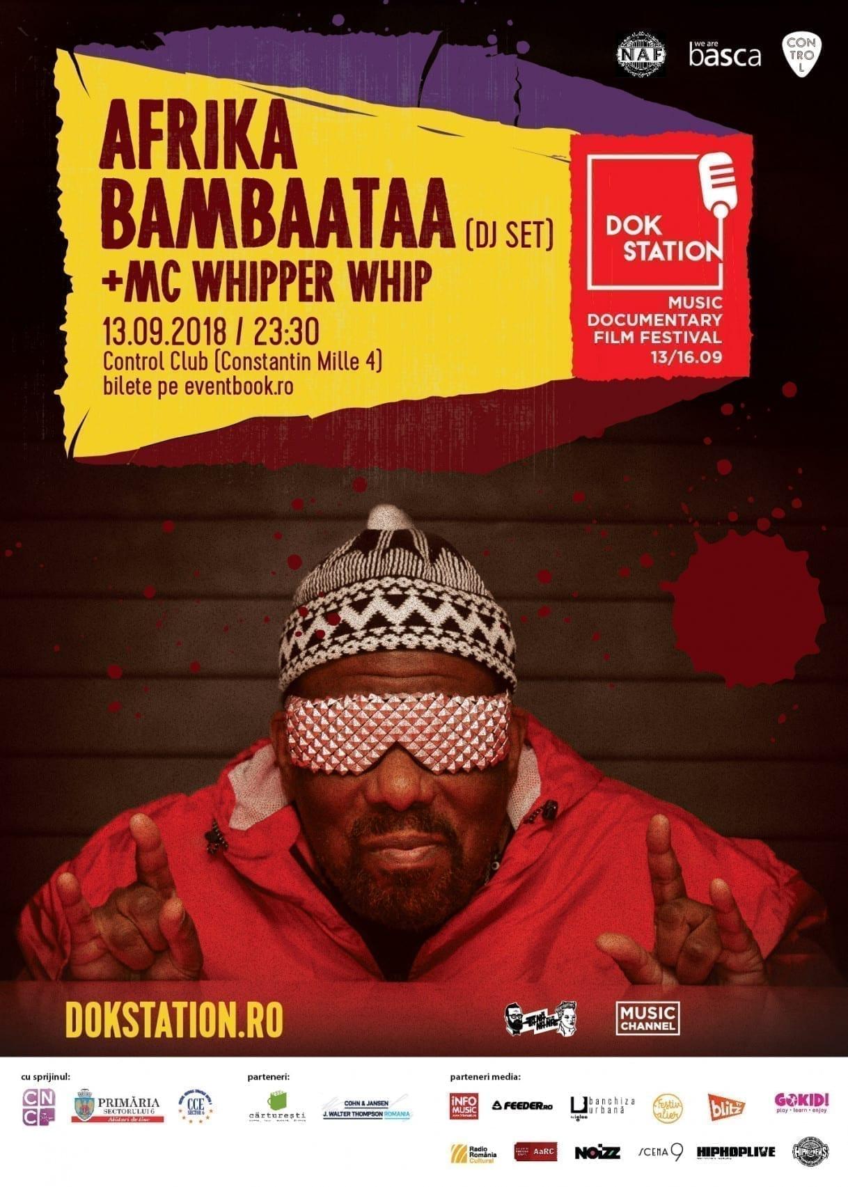 Afrika Bambaataa mixează la Control Club, în cadrul DokStation