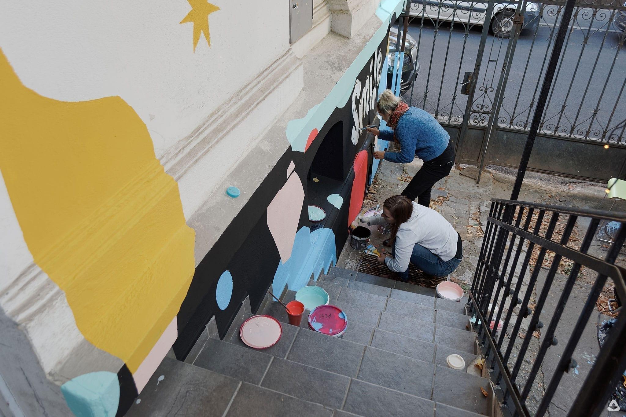 Un-hidden Bucharest Livi Po mural Dizainăr