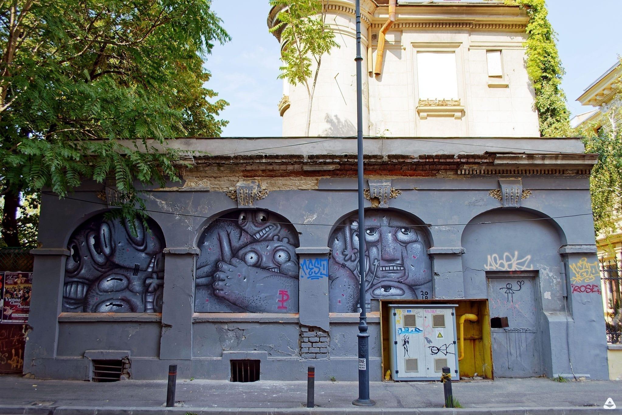 Un-hidden Bucharest street art Pisica Pătrată