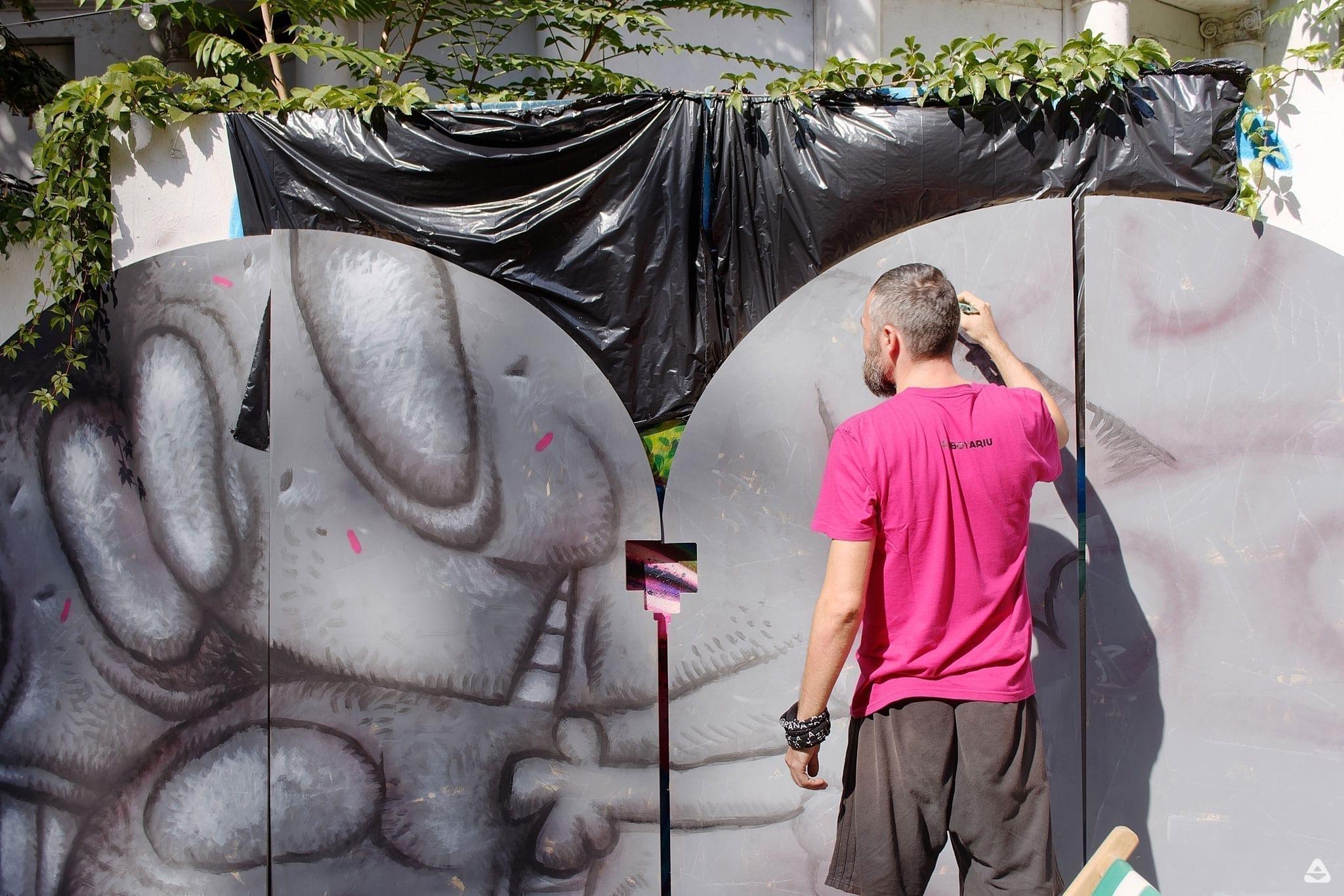Pisica Pătrată instalație artistică / Un-hidden Bucharest II