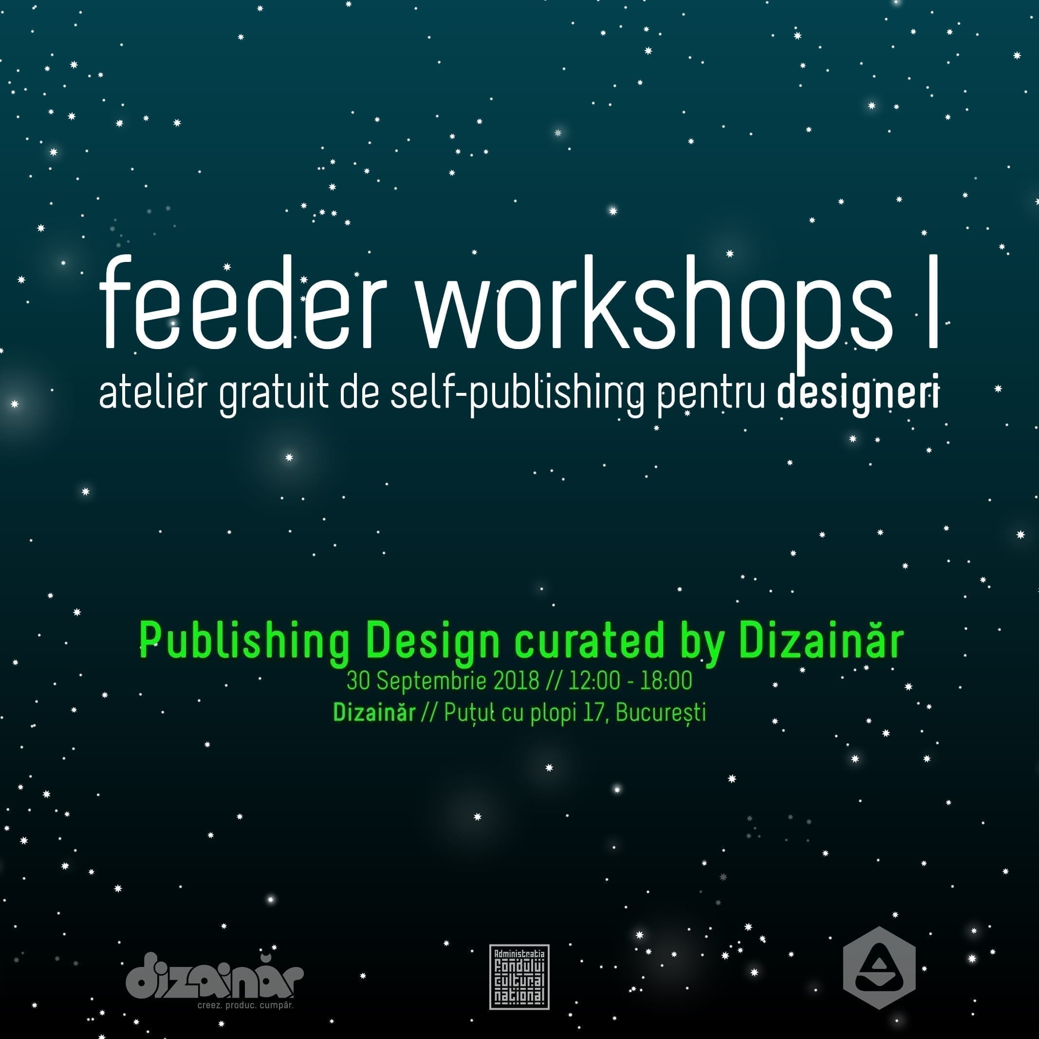 feeder workshops I - participă gratuit la atelierul de online self-publishing pentru designeri, creat în parteneriat cu Dizainăr