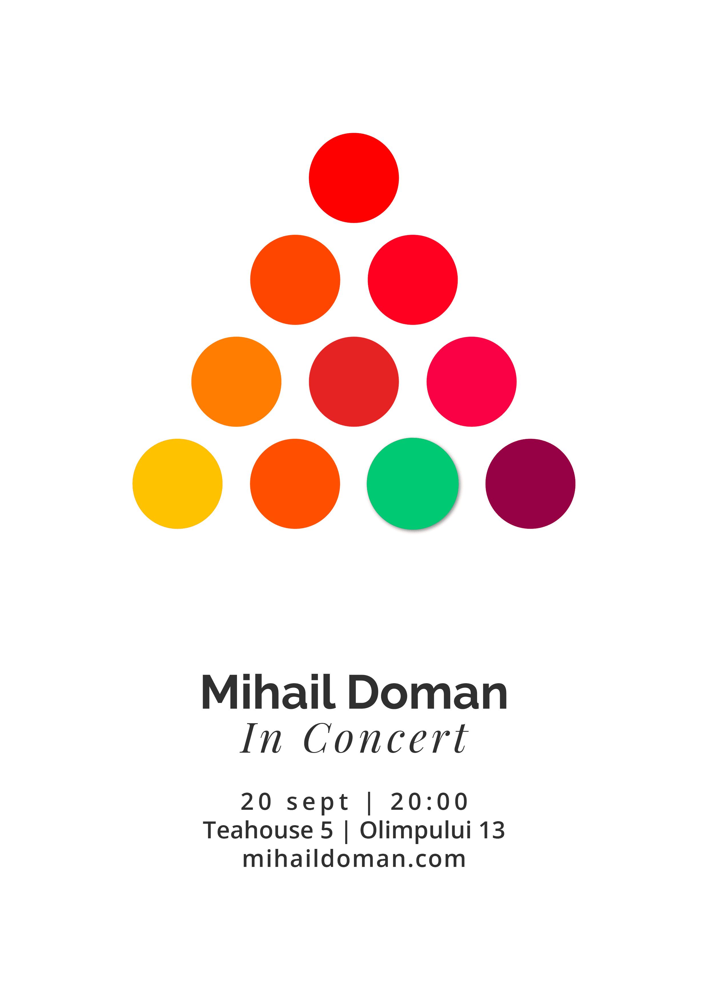 Live Piano w/ Mihail Doman