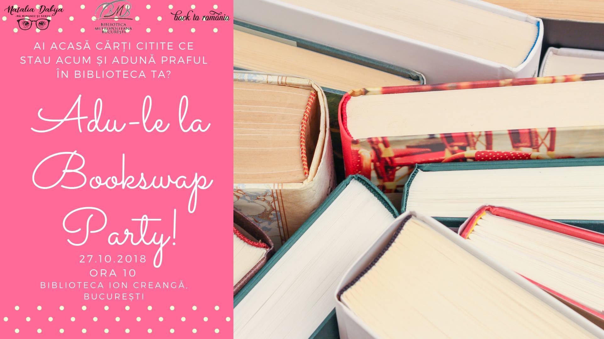Bookswap Party - Schimb de cărți în București!