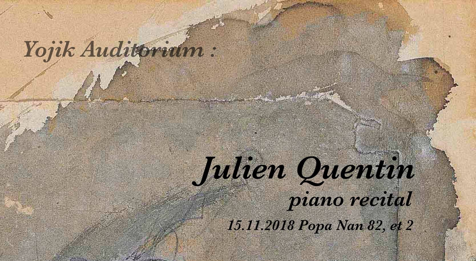 Piano recital with Julien Quentin