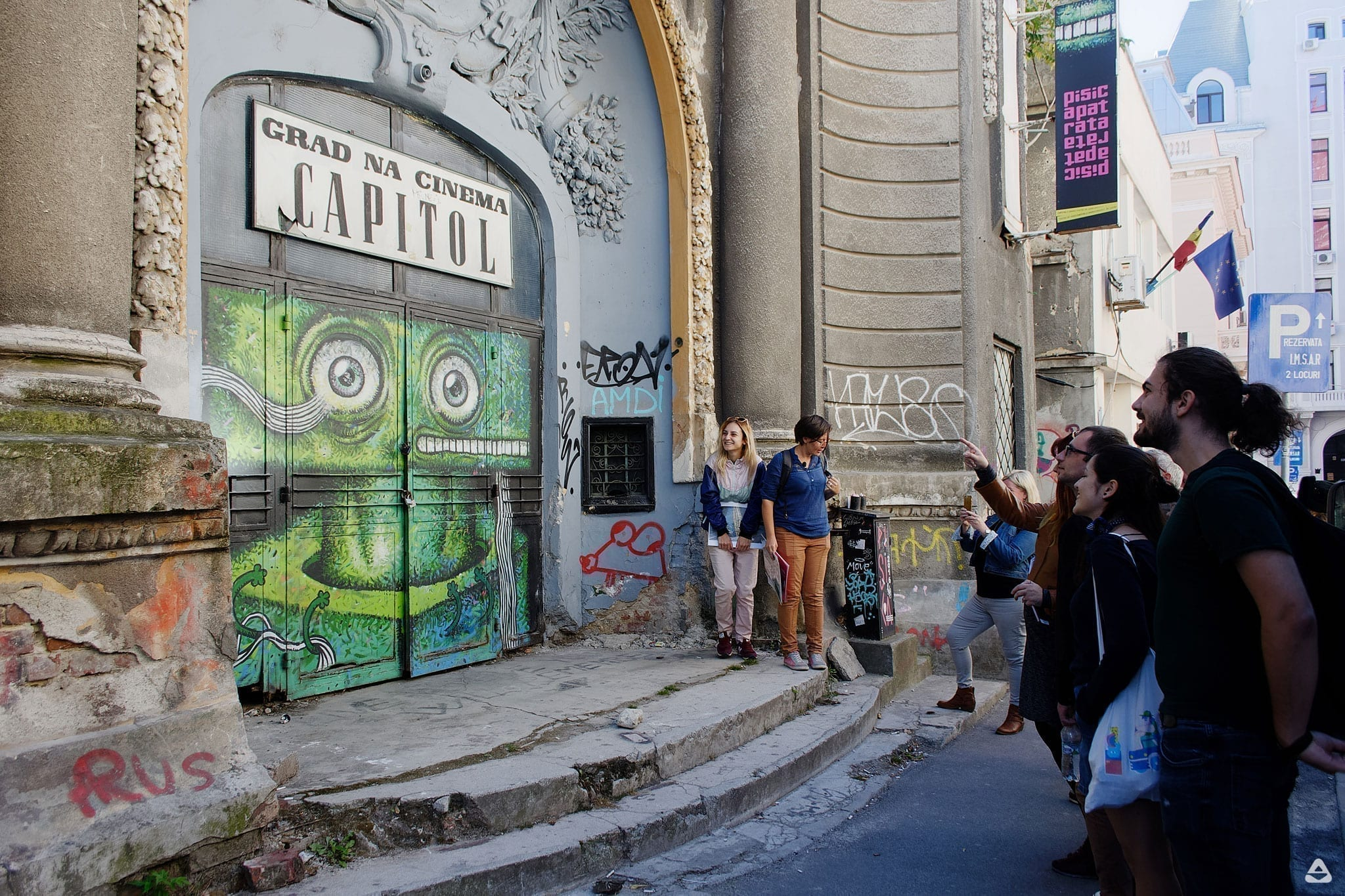 Un-hidden Bucharest street art tour 3 x Open Door Travel outside the box